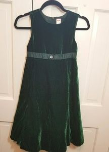 GYMBOREE Emerald Green Velvet Dress